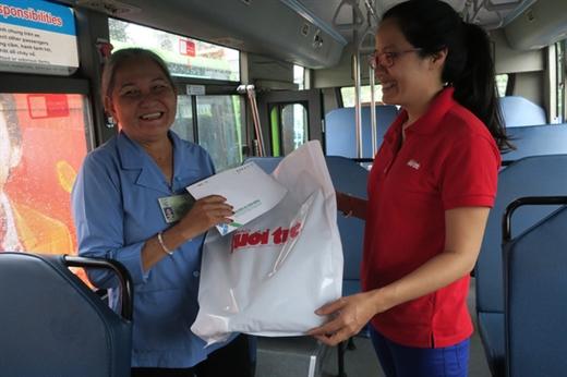 Bà Nguyễn Thị Rớt - người tiếp viên xe buýt